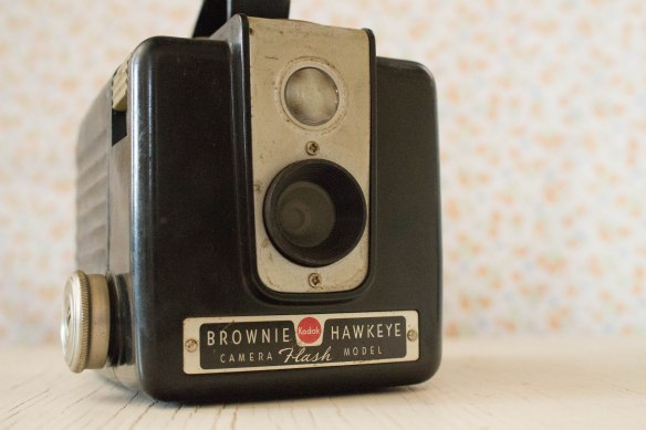This old Brownie Hawkeye. I had to add it to my antique camera collection.